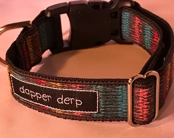 "Multi Colored 1"" Dog Collar"