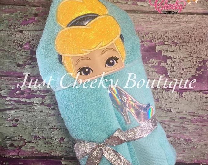 Glass Slipper Princess Inspired Hooded Towel - Cinderella - Disney Birthday - Disney Princess
