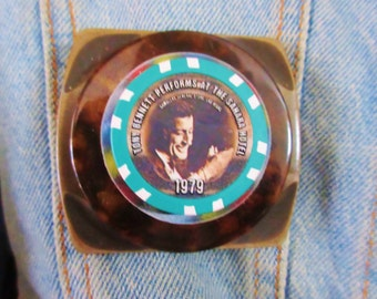 Original One-of-a-kind Tony Bennet Poker Chip Pin