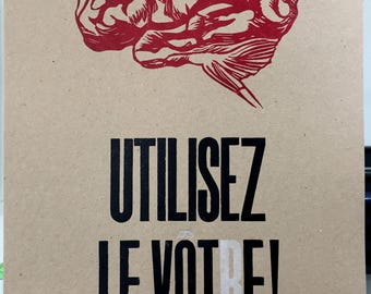 Letterpress poster Procrastination !