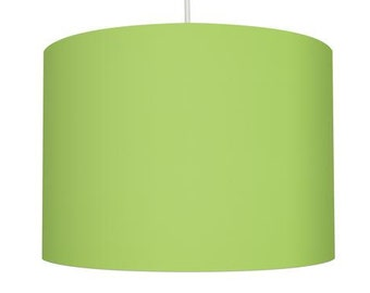 Lime Green Linen Fabric Drum Lampshade, Small Lampshade 20cm - Large Lampshade 40cm or Custom Order