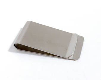20 pieces of Money Clip, Stainless Steel, 26mm x 48mm, Silver Color