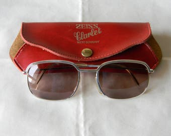 True Vintage Rare Zeiss Clarlet  Sunglasses. 50's. Made in Germany.