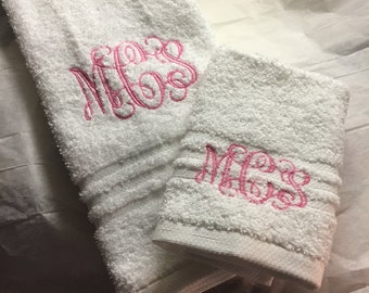 Personalized Hand Towel and Washcloth Set