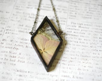 Terrarium Necklace Dried Flower Jewelry Soldered Pendant gift graduation gift Bridesmaid Gift Woodland Jewelry Lichen Necklace Moss Necklace