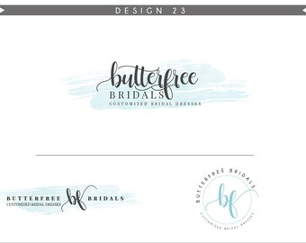 Watercolor Logo Design Branding Package Inc. Photography Logo Watermark - DANDELION initials letters script cute Watercolor Logo- Logo 23
