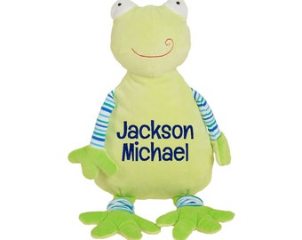 Personalized Stuffed Animal, Frog Stuffed Animal, Baby Gift, Toddler Gift, Kids Gift, Personalized Gift for Kid, Embroidered, Cubbie, Frog
