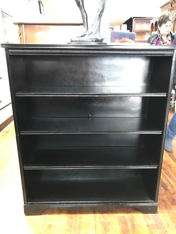 Bookshelf painted black