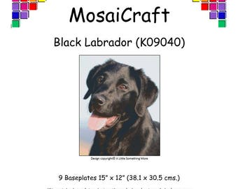 MosaiCraft Pixel Craft Mosaic Art Kit 'Black Labrador' (Like Mini Mosaic and Paint by Numbers)
