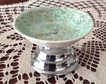 Pretty pedestal candy dish by H. Aynsley & Co., Vogue Moderne, England
