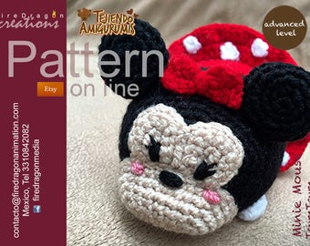 Minnie Mouse Tsumtsum Pattern Crochet