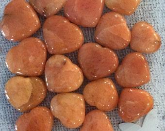 Red Aventurine Large Gemstone Heart, Spiritual Stone, Healing Stone, Healing Crystal, Chakra