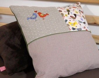 Pillow set bird cross stitch 40 x 40 cm