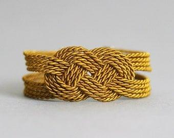Mustard Green Bracelet, Rope Knot Bracelet, Rope Jewelry, Knot Bracelet, Nautical Rope Knot Bracelet,Knot Jewelry,Elegant Bracelet,Rope Knot