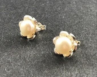 Mediterranean Petite Pearl Earrings