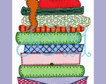 Princess and the Pea Vintage Style Applique Design