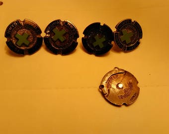 5 sterling silver Virginia Hwy Dept. Pins 20years accident free pins. A couple 5 years.