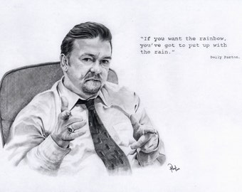 David Brent Pencil drawing Print