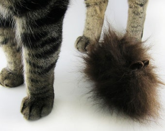 Rattle Cat Toy Mouse, Rattle Mouse, Catnip Mouse Cat Toy, Cat Toy with Rattle, Real Fur Mouse