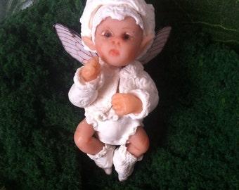 Miniature Handmade OOAK Fairy Baby - White