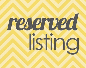 Reserved listing for order correction