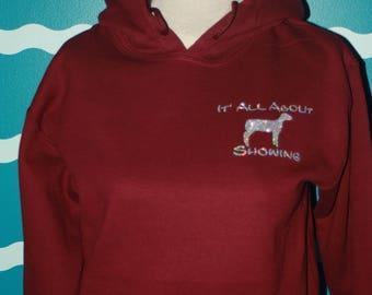 Show lamb hooded sweatshirt - Livestock show girl hoodie sweatshirt - show lamb sweatshirt - Livestock show sweatshirt - plus size shirt