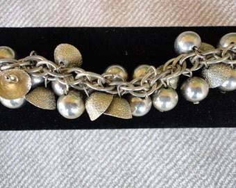 Vintage Silver Tone Bracelet- BOHO, GYPSY Style
