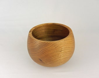 Butternut Wood Bowl - Woodturning - Handmade - Turquoise - Natural - Gift