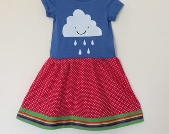 Happy cloud rainbow dress