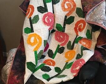 Lap Quilt/Flowers Quilt/3D Flower Quilt/Quilt