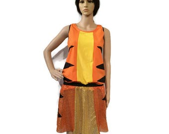 Tigger from Winnie the Pooh inspired running costume- shirt and sparkle running skirt costume