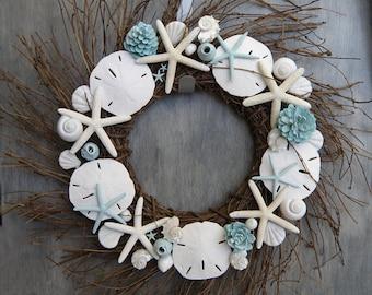 Sand Dollar Wreath Etsy