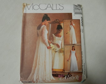 Misses' Bridal Gowns McCall's 9688  Sizes 4, 6, 8