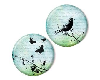 2 magnets, Butterflies & Bird