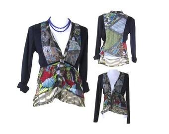 VINTAGE CARDIGAN JACKET, Patchwork Blouse, bohemian jacket, Lined Cardigan, Long sleeve jacket, bohemian jacket, EuropeanRetroFashion