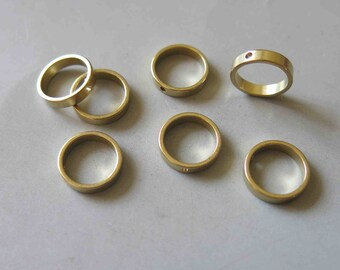 50pcs Raw Brass Round Ring Charms,Pendants  12mm - F465
