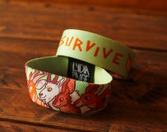 CLEARANCE Survive Fabric Bracelet