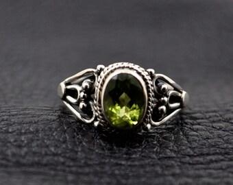 Peridot Sterling Sterling Ring 6