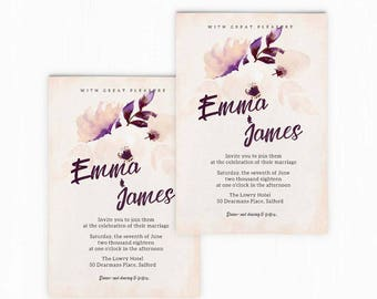 Vintage Wedding Invitation Template by Howie & Ice
