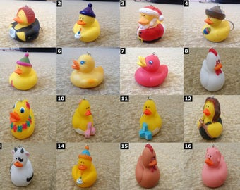 Cute Rubber Duck keychains - SELECT ONE