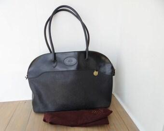 Vintage Mulberry Large Scotchgrain Leather Shoulder Bag, Tartan Lining, circa 1980s