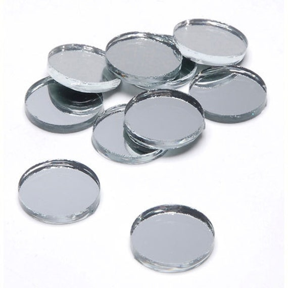 1 5 inch round glass craft and hobby mirrors 12pc for Glass and mirror craft
