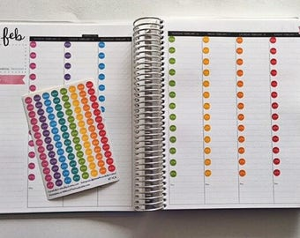 Hourly Planner Stickers - Rainbow Sticker, Time, Hour, Time Tracker, Sticker, Erin Condren, Plum Paper, MAMBI, planner accessory