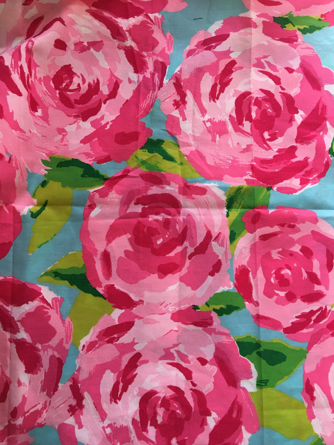 Lilly Pulitzer Fabric 3 Patches Of Lilly Pulitzer Fabric Hotty Pink First Impression