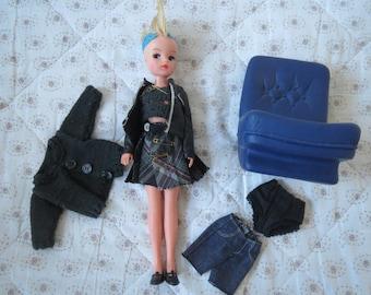 Vintage Sindy doll Custom PUNK doll