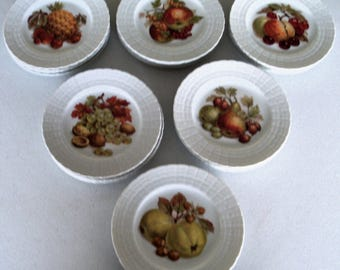 Hutschenreuther Germany 1814 Set Of Twenty Four Fruit Plates
