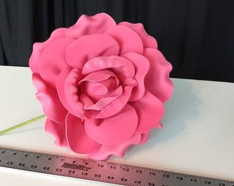 "NEW 2 Giant Roses Foam  -  14""  Diameter wide 17 "" High"
