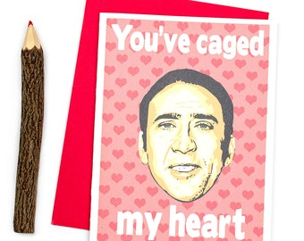 Funny Love Card, You've Caged My Heart, Funny Anniversary Card, I Love You Card, Love Card, Parody Card, Funny Card For Him, Gift for Her