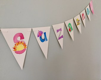 Personalized Child/Baby Name Painting or Bunting Banner