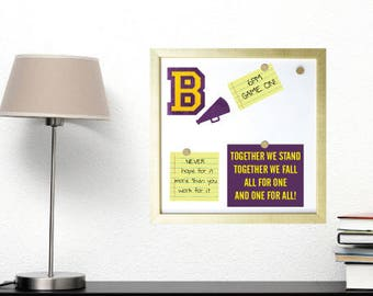 Cheer Frame - Custom Cheer Initial Magnetic Board and Magnets